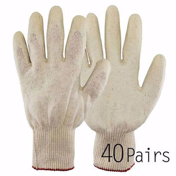 [The Elixir] White Latex Dipped Nitrile Coated Work Gloves 40Pairs for General Purpose, Safety Working Gloves